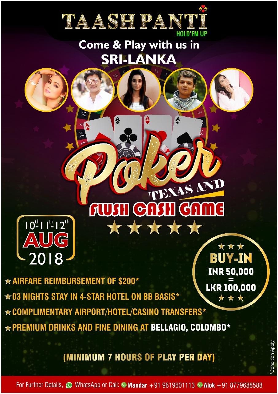 Taashpanti Colombo Live Poker Event